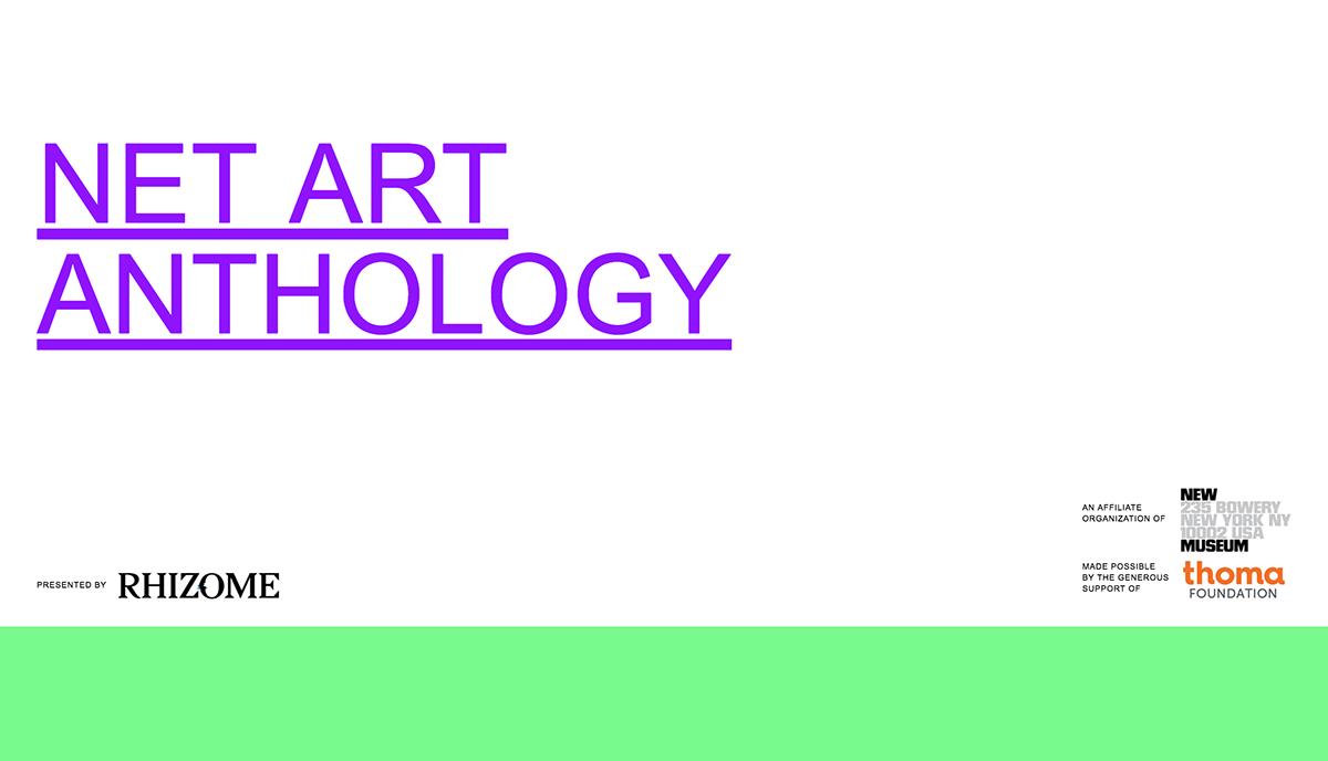 Social Heritage Gold Net Art Anthology
